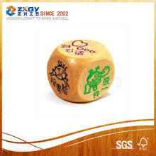 Traditional handmade wooden casino dice