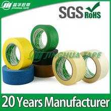 High viscosity adhesive paper masking tape