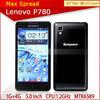 5.0'' 3g 8mp camera dual sim lenovo p780 mobile phone waterproof original dual sim phone
