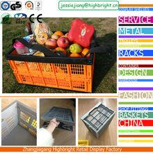 large volume vegetables folding plastic crates