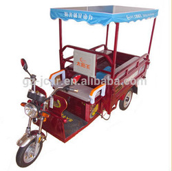 Three wheel solar energy electric tricycle for sale (48V 800W electric motorcycle)