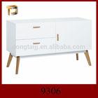 9306 MEET Matt Gloss White MDF Medium Sideboard, View bed sideboard