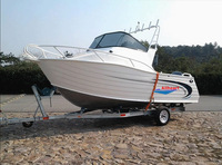 19ft cuddy cabin aluminum boat with hard top