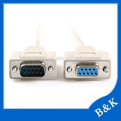 Korea hot sale db9 to vga cable db9 female to female rs232 cable
