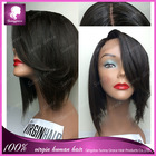 Short BOB wig virgin human hair color #1b full lace wig /lace front wig bob cut hair with baby hair around for fashion woman