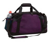 U-Shaped Zippered Closure Gym Sport Duffel Bag with Shoes Storage