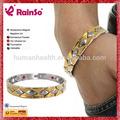 titanio di alta qualità catena di ioni negativi gioielli braccialetto magnetico con abete e tormalina