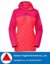 Nylon face fabric waterproof Women's padded coat for North European