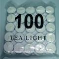 blanco tealight vela