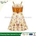 Fashion latest model casual flower dress for lovely girl