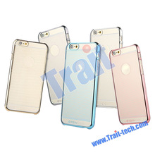 Wholesale! 5 colors optional TOTU Design Breeze Series Strips Pattern+Transparent PC Hard Case for iPhone 6 Plus 5.5 Inch