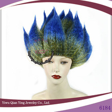 color mixed hot sale fire shaped party funs wigs