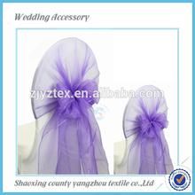 wedding organza chair sash and organza chair wraps