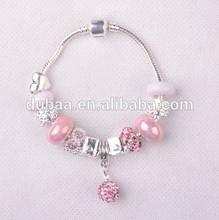 Glass Bead Bracelets with Snake Chain Murano Charms Bracelets Jewelry Dubaa Fashion