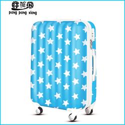 Romantic stars print popular cheap luggage bag