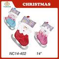 2014 nuevo diseño Stcoking navidad, media de la navidad regalo de la decoración