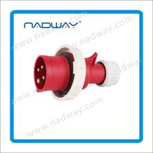 Gold suppliIP67 CEE waterproof plastic Panel mounted Industrial Socket Electrical plug&socket 3p+n+e industrial plug and socket