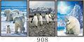 dongchen lihua profondità 3d flip effetto immagine degli orsi polari per la casa decori