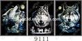 dongchen lihua profondità 3d flip effetto immagine di notte lupi per la casa decori