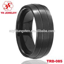 2014 Black Pure Titanium Tungsten Ring Settings Men's Ring