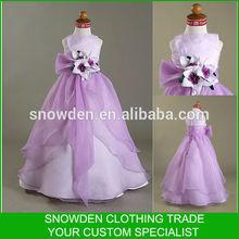 Elegant Style Sleeveless Floor Length Party Dresses For 6 Year Old Girl