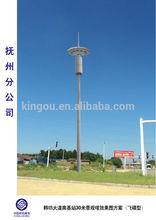 brand new landscape telecommunication steel monopole pole
