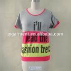 Hot selling fashion t shirt new design ladies short sleeve t shirt