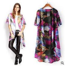 high fabric cotton comfortanle feeling Printing long poncho kimono coat