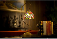 TJ1398 tiffany table lamp reading lamps tiffany stained glass lamp shade
