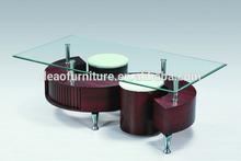 modern design high gloass venner Popular S shape MDF coffee table