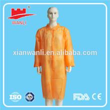 disposable long sleeve lab coat uniform
