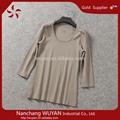 2014 senhoras atacado roupas personalizadas novo design manga longa t-shirt para a mulher