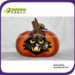 Best price halloween craft artificial pumpkin with cat