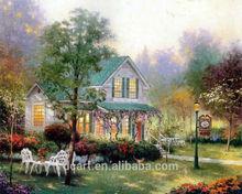 wonderful garden scenery handmade painting wholesale with thomas style
