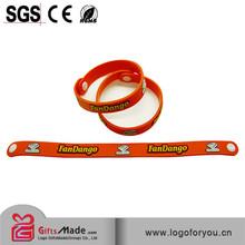 luminous silicone wristband with imprinted logoe