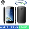 """4G LTE new product GT9157 Hotknot 4.5"""" mtk6582 quad core brand new cheap android phone with Android 4.4KK LB-H451 OEM ODM"""