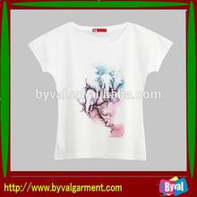 Wholesale custom cotton T-shirt in women