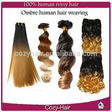 ombre kinky twist, factory wholesale cheap price Grade 5a/ 6a/ 7a Peruvian/ Malaysian/ Indian/ Brazilian human hair