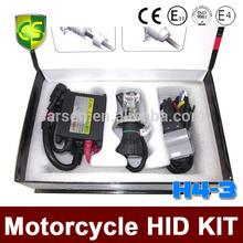 CARSEN 55W 35W H4 Hi/low Motorcycle hid bi xenon HID Conversion Kit/Xenon Kit Slim ballast,3000K,4300K,6000K,8000K,10000K