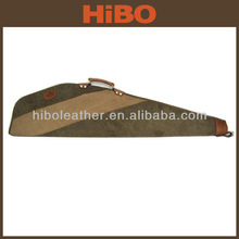 2014 hot selling classic style canvas and leather gun slip for hunting rifle