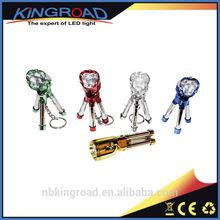 Mini Tripod Plastic Keychain LED Flashlight Wholesale