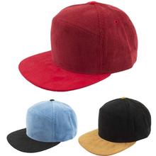 big flat brim blank corduroy baseball cap