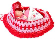 baby crochet cradle, baby crochet bowl, crochet baby bassinet