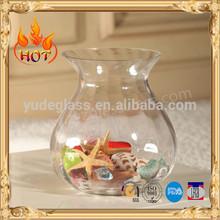 vase shape glass storage jar