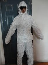 Nieve ligeros trajes ghillie por tela de malla
