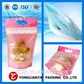 O calor do selo de vedação& alça e impressão do gravure superfície manipulação trading card embalagens sacos