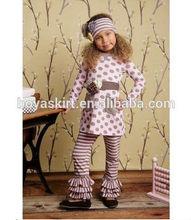 Tango Legging Baby Pink Sage wholesale toddler girls boutique clothing two pcs sets with custom design polka dot set