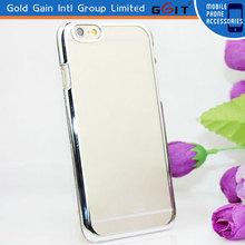 electroplating metal case for iPhone 6 hard cover, hard pc for iPhone 6 cover case