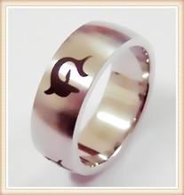 High polish Mens promise ring. Ring for men stainless steel mens wedding rings