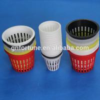 White Plastic Plant Pots for Hydroponic Plants